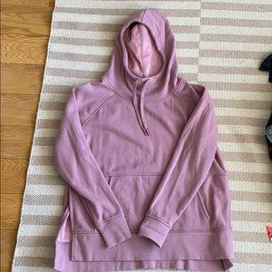 Fleece lined pink hoodie